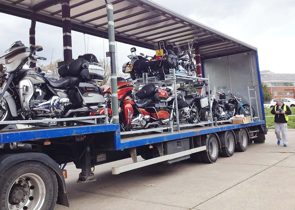 Secure motorcycle transport to events all over Europe