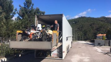 Fly and Ride transported 52 rally bikes to Portugal